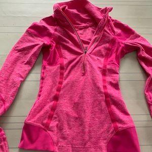 Hot pink Lululemon quarter zip